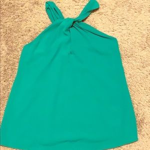 Green halter blouse